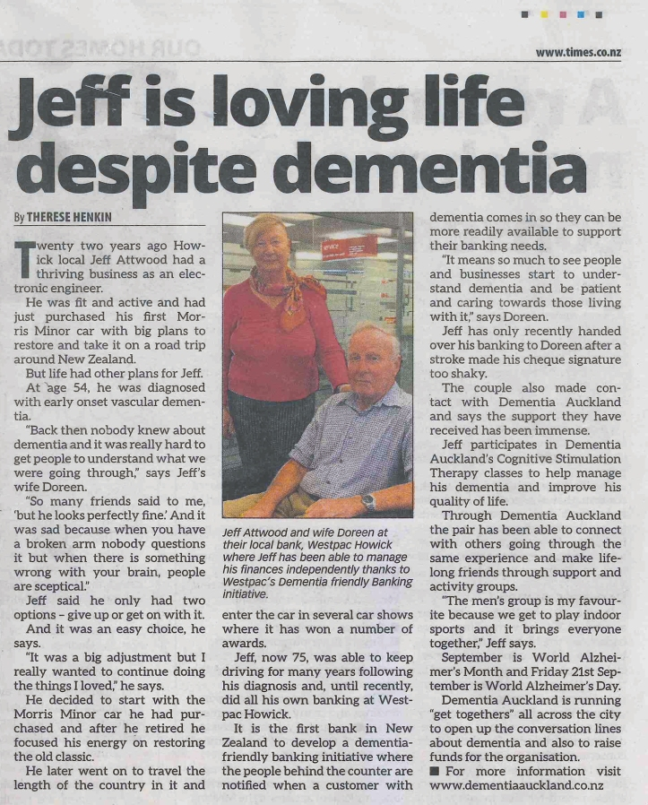 Jeff and Doreen newspaper story